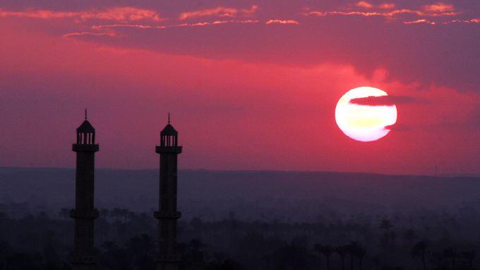 Sonnenuntergang über Kairo.