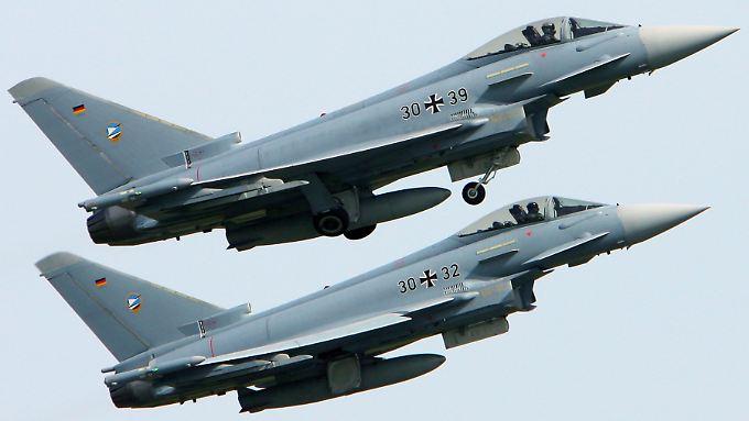 Zwei Eurofighter der Bundeswehr.