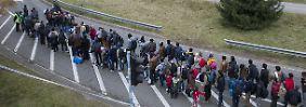 Unter 6000 am Wochenende: Deutlich weniger Flüchtlinge kommen an