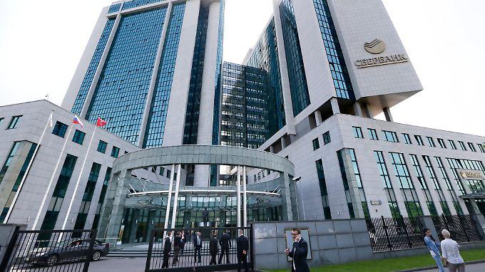 Das Gebäude der Sberbank in Moskau.