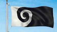 Referendum in Neuseeland: Zwischen diesen Flaggen wählen die Kiwis