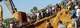 Erdrutsch in Myanmar: Rettungskräfte bergen immer mehr Leichen