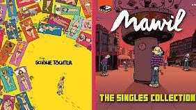 """Links: """"Schöne Töchter"""" ist bei Carlsen erschienen, 128 Seiten (ein Strip pro Doppelseite), Format 30x30 cm, 24,99 Euro. Rechts: """"Singles Collection"""" ist bei Reprodukt erschienen, 136 Seiten, Format 30x30 cm, 29 Euro."""