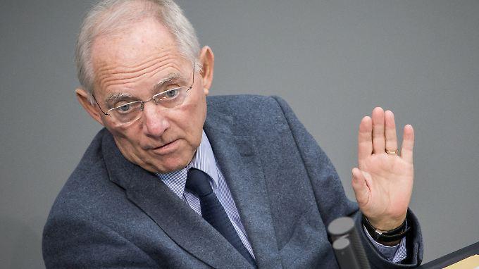 Schäuble: Wer Geld haben will, muss es an anderer Stelle einsparen.