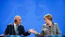 Angela Merkel und Ashraf Ghani sind sich einig: Die Afghanen sollen in Afghanistan bleiben.