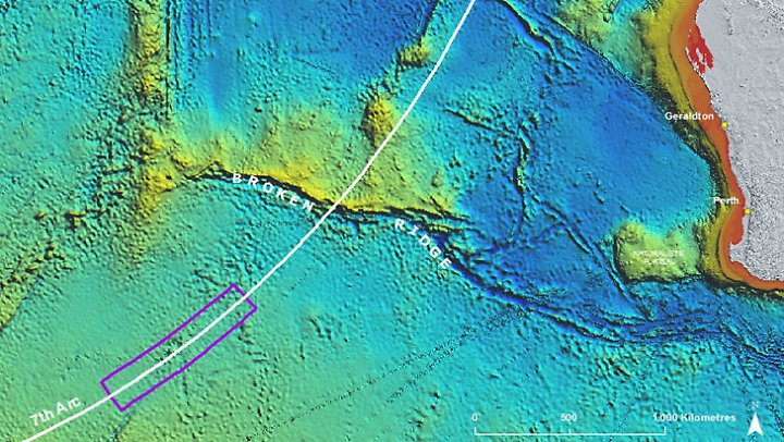 Diese Flugroute über den Indischen Ozean wird bisher als wahrscheinlich angenommen.