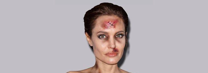 Protest gegen häusliche Gewalt: Promis als Prügel-Opfer