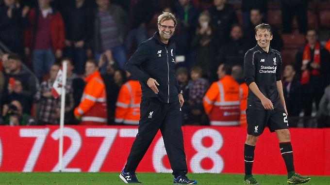 Ein Mann, ein Lächeln: Jürgen Klopp nach dem sensationellen 6:1 seines FC Liverpool in Southampton.