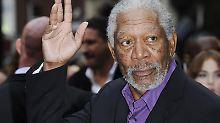 Morgan Freeman hat die Landung unverletzt überstanden. Foto:Facundo Arrizabalaga