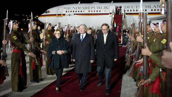 Bundespräsident Joachim Gauck bei seinem Besuch in Jordanien.