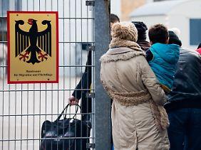 Flüchtlingsregistrierung in Braunschweig.