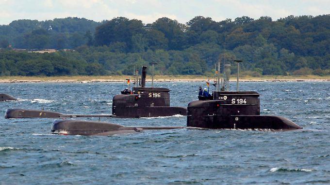 Die Marine hatte die U-Boot-Klasse 206 in den Ruhestand geschickt. Diese Modelle hier laufen zum letzten Mal in die Eckernförder Bucht aus.