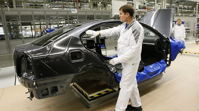 VW-Produktion im russischen Kaluga.