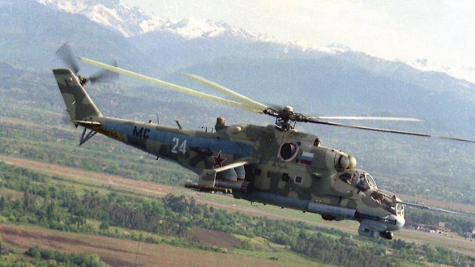 Russland stockt seinen Bestand an Mi24-Helikoptern in Armenien auf.