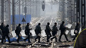 Griechische Sondereinsatzkräfte haben die Grenze geräumt.