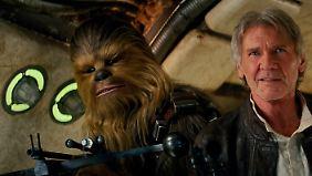 Alte Helden: Han Solo und Chewbacca.