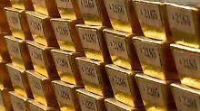 Goldbarren der Deutschen Bundesbank in Frankfurt am Main.