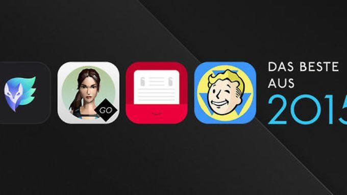 """Diese vier Apps gehören zu """"Das Beste in 2015"""" in iTunes."""