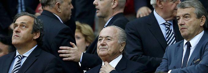 Es war einmal: Michel Platini, Joseph Blatter und Wolfgang Niersbach.