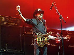 """Seit sieben Jahrzehnten auf dieser Welt, etwas weniger auf der Bühne: Ian Fraser """"Lemmy"""" Kilmister."""