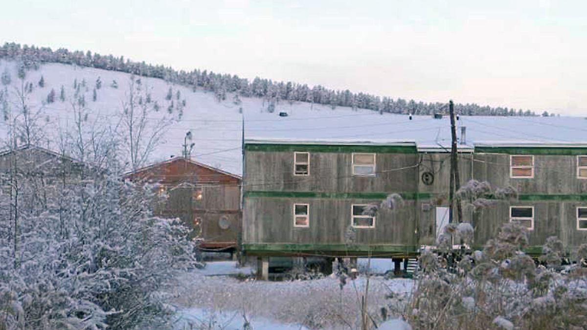 folge des klimawandels in sibirien m ssen h user gek hlt. Black Bedroom Furniture Sets. Home Design Ideas