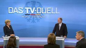 Merkel und Steinbrück beim TV-Duell 2013