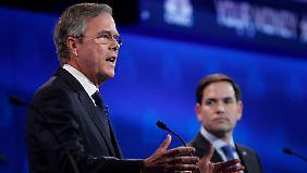 Jeb Bush und Marco Rubio gehören zu den Establishment-Kandidaten im Rennen der Republikaner.