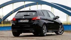 Die 18-Zoll-Leichtmetallfelgen gehören zur Serienausstattung des 308 GT.