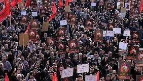 In Teheran gab es gegen die Hinrichtung von Nimr al-Nimr Proteste.