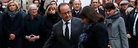 """Gedenktafeln eingeweiht: Frankreich gedenkt der """"Charlie Hebdo""""-Opfer"""