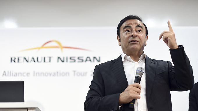 Großer Auftritt in Sunnyvale: Renault-Nissan-Chef Carlos Ghosn.