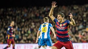 Luis Suárez vom FC Barcelona soll seine Gegenspieler beim Pokalspiel provoziert haben.