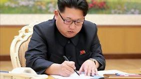Kim Jong Un provoziert immer wieder mit militärischen Vorstößen.