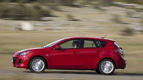 Die zweite Generation des Mazda3 zählt zu den größeren Vertretern in der Kompaktwagenklasse.