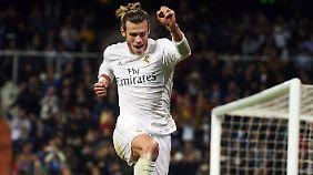 Wie ausgewechselt spielt Gareth Bale beim hohen Sieg gegen La Coruña.
