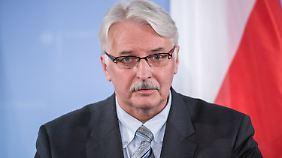 Witold Waszczykowski verbittet sich Kritik von deutschen Politikern.