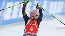 Sieg-Hattrick für Biathletinnen: Dahlmeier krönt perfekten Heim-Weltcup