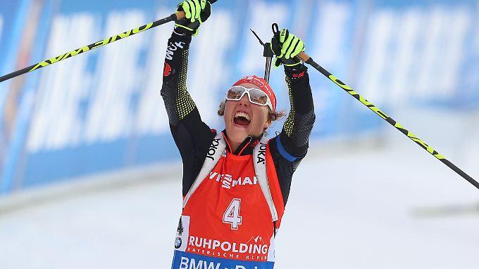 Laura Dahlmeier war die überragende Biathletin beim Weltcup in Ruhpolding.