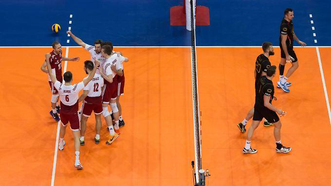 Im vierten Satz ließ das deutsche Team einen Matchball ungenutzt. Polen machte es dann im entscheidenden Durchgang besser.