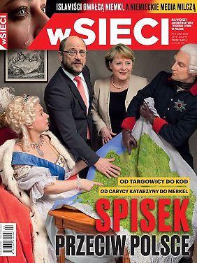 """Auf dem Titelblatt des nationalkonservativen Magazins """"wSieci"""" kommt Europa nicht gut weg."""