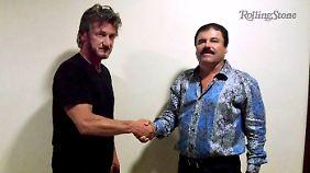 """Für den """"Rolling Stone"""" interviewte Sean Penn Guzmán während seiner Flucht in den USA."""