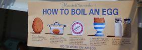 Diese englischsprachige Anleitung zum Eierkochen kommt ohne Anpieksen aus.