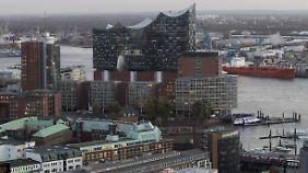 Die umstrittene Elbphilharmonie in Hamburg.