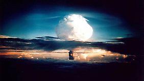 Die Explosion einer H-Bombe.