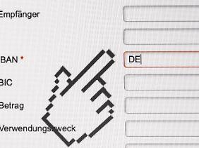 Für deutsche Kunden beginnt die IBAN mit DE.