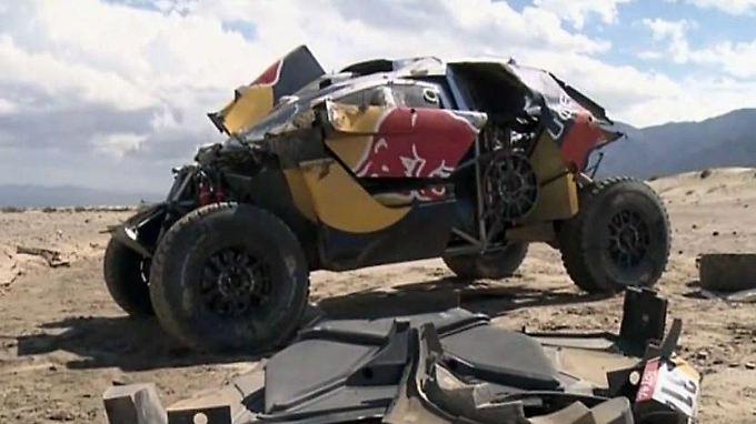 Mehrfach-Überschlag bei der Rallye Dakar: Spektakulärer Crash wirft Sebastien Loeb aus Titelrennen