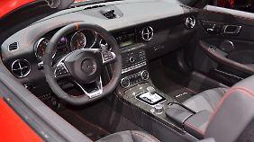 Auch der Innenraumdes Mercedes SLC hat im direkten Vergleich mit dem SLK deutlich zugelegt.