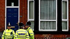 Britische Polizisten im Einsatz. (Archiv)