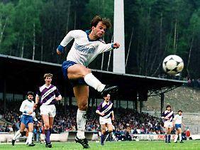Rico Steinmann im März 1989 beim 2:1-Sieg des FC Karl-Marx-Stadt im FDGB-Pokal bei Wismut Aue.