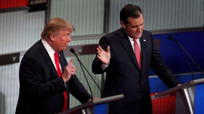 Streit über Herkunft bei TV-Redeschlacht: Zwischen Trump und Cruz kracht es